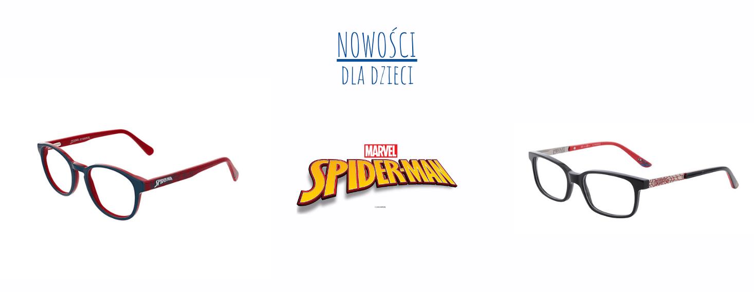 oprawki okulary korekcyjne dziecięce spider man dla chłopca