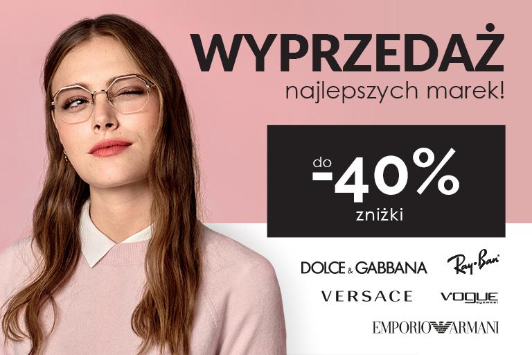Wyprzedaż promocje okulary korekcyjne rayban versace vogue d&g dolce gabbana